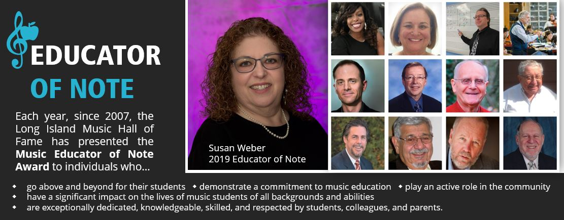 SUSAN WEBER NAMED 2019 MUSIC EDUCATOR OF NOTE