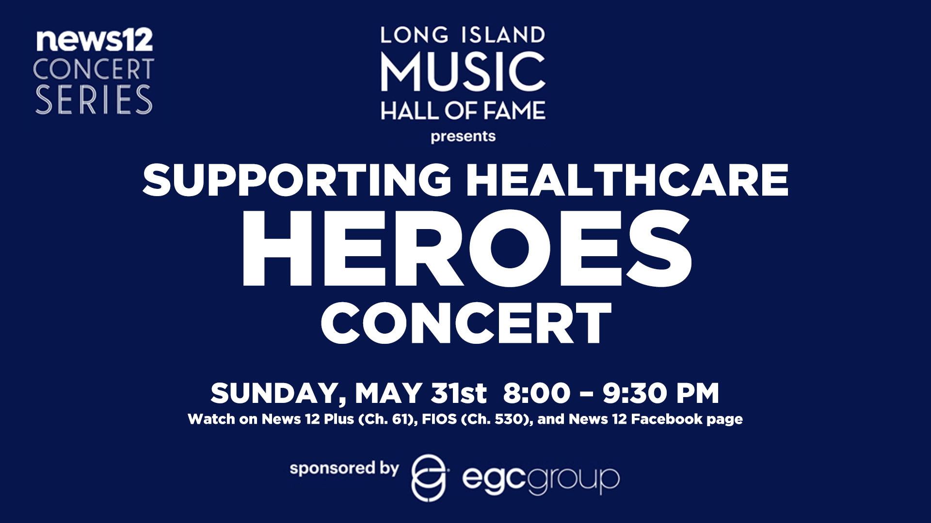 Supporting Healthcare Heroes Concert on May 31st- Click for details